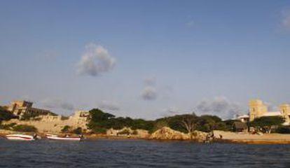 Vista de la isla de Manda en Kenia
