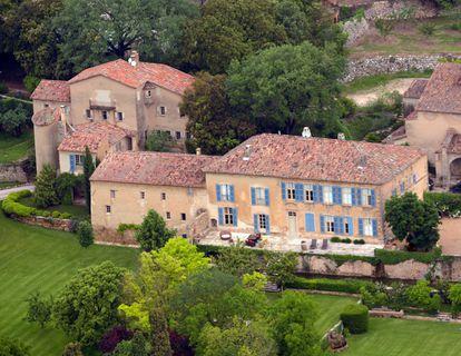 Château Miraval, situado en el corazón de la Provenza, y propiedad de Angelina Jolie y Brad Pitt.
