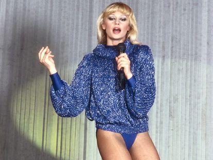 La cantante Raffaella Carrá en los años setenta.