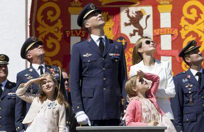 Los Príncipes en un acto en la Academia General del Aire este junio.