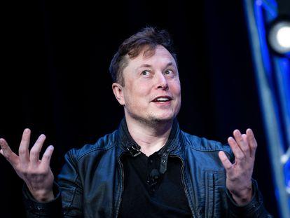 Elon Musk, durante el evento de comunicaciones por satélite Satellite 2020.
