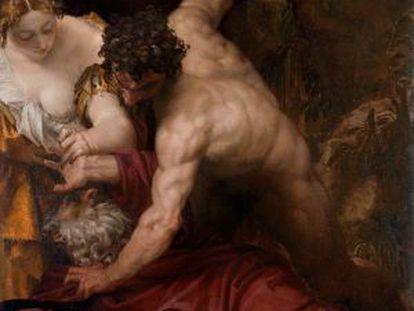 'La tentación de San Antonio', de Veronés, una de las obras que pueden verse en la exposición del Palacio de la Gran Guardia, en Verona.