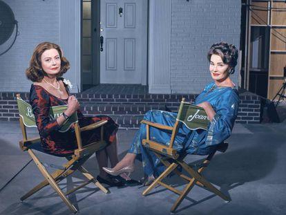 Susan Sarandon y Jessica Lange, caracterizadas como Bette Davis y Joan Crawford en 'Feud'.