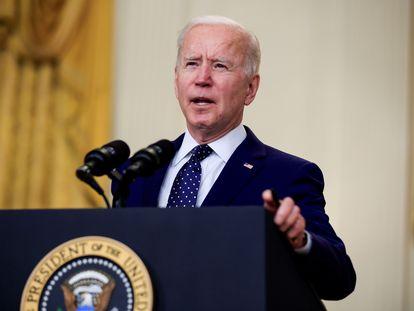 El presidente Joe Biden habló sobre Rusia en la Casa Blanca la semana pasada.