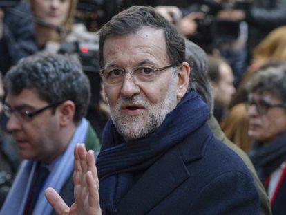Rajoy llegando al Consejo Europeo.