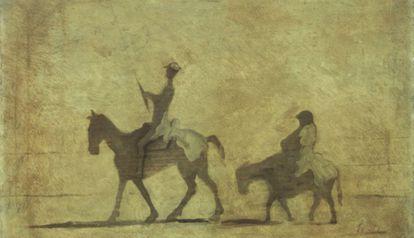 El 'Quijote' en una ilustración de Honoré Daumier.