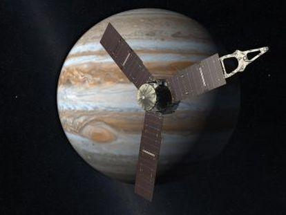 La nave  Juno  afronta su llegada a Júpiter, uno de los momentos más críticos de la primera misión que orbitará el gigante en más de una década