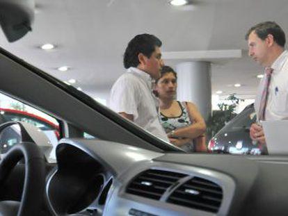 Un concesionario de coches en Madrid.