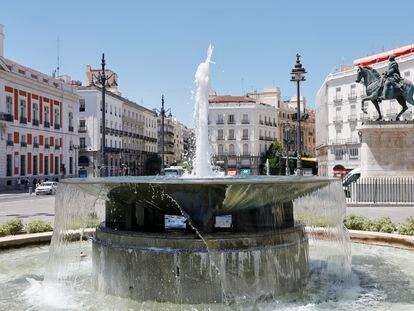 Vista de la Puerta del Sol en Madrid.