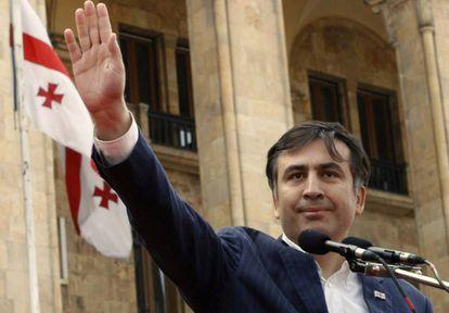 Mikhail Saakashvili en 2008, cuando era presidente de Gerogia.