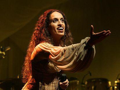 La cantante Noa, durante un concierto en Madrid.