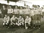 Primer encuentro de la selección española de fútbol en plena Guerra Civil contra Portugal en Vigo