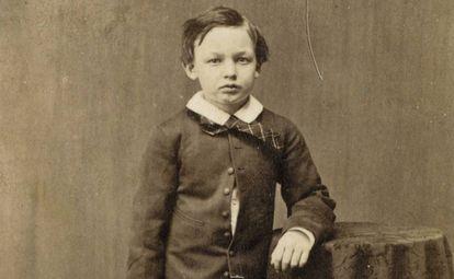 Willie Lincoln, hijo del presidente de EE UU Abraham Licoln, en 1860.