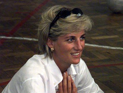 Diana de Gales, en Bosnia el 9 de agosto de 1997.