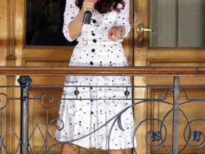 Cristina Fernández, ya sin luto, en un discurso en pasado mes de enero.