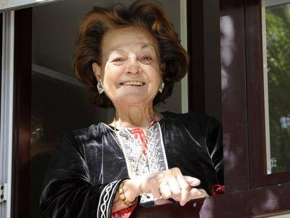 Carmen Sevilla en su última aparición pública, el 16 de octubre de 2012.