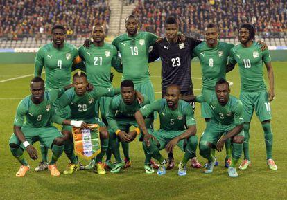 Alineación de Costa de Marfil en un partido ante Bélgica