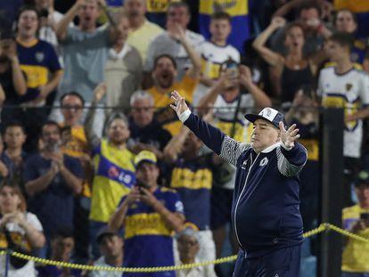 Maradona, homenajeado contra Boca Juniors, el 7 de marzo.