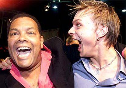 Los dos miembros del grupo estonio ganador de la última edición de Eurovisión.