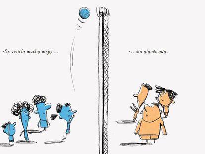 Una de las ilustraciones del cuento 'Sin Agua y Sin Pan'.