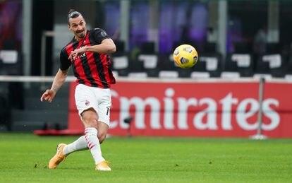 Ibrahimovic, en el Milan-Atalanta.