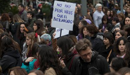 Manifestación del Día de la Mujer en Barcelona.