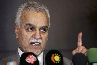 El vicepresidente iraquí Tariq al Hachemi, en la ciudad de Arbil.