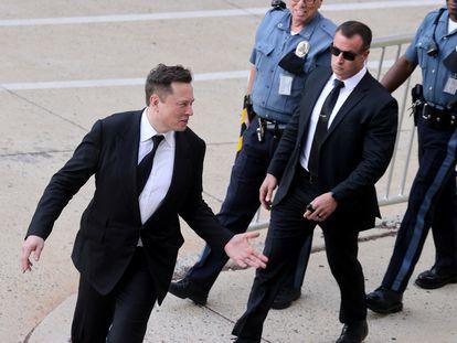 El fundador y director ejecutivo de Tesla, Elon Musk, a la salida de un tribunal en Wilmington (Delaware) en julio pasado.