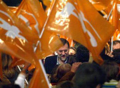 Mariano Rajoy, durante la presentación en Madrid de candidatos para las elecciones de mayo.