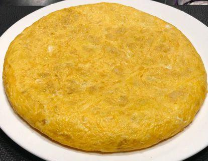 Tortilla del Mesón O´Pote en Betanzos.