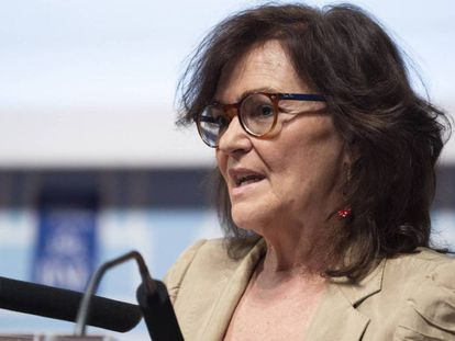 La vicepresidenta Carmen Calvo, esta semana en un acto.