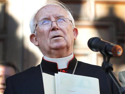 """El arzobispo de Valencia, Antonio Cañizares, que denunció """"la invasión"""" de refugiados."""