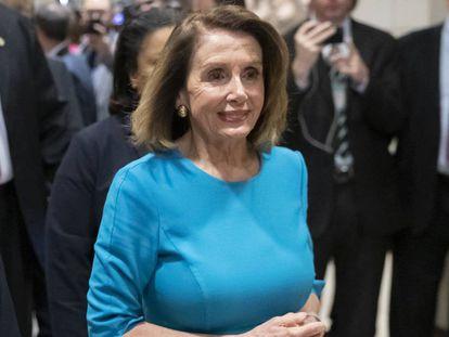 Pelosi, este miércoles, en el Congreso