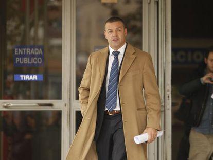 El empresario Miguel Ángel Flores, tras declarar ante el juez en noviembre.