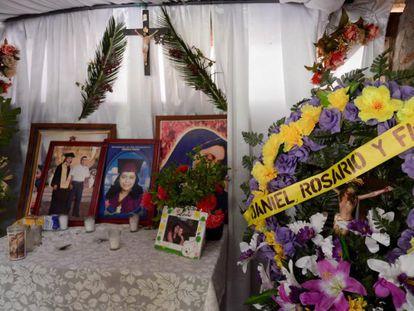 Altar en honor a los sandinistas asesinados en Nicaragua