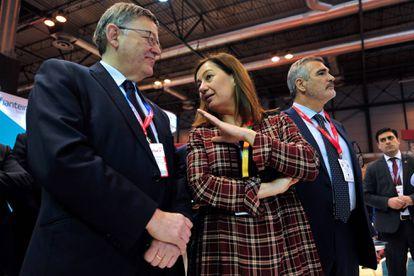 Los presidentes Ximo Puig y Francina Armengol, en Fitur el año 2018.