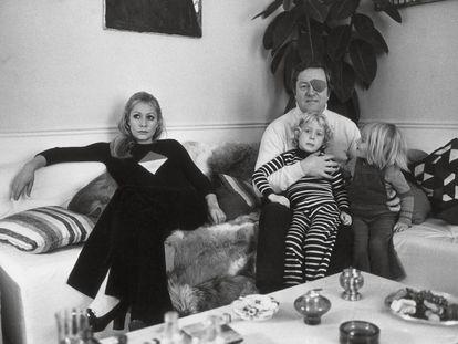 La familia Le Pen, en los años sesenta.