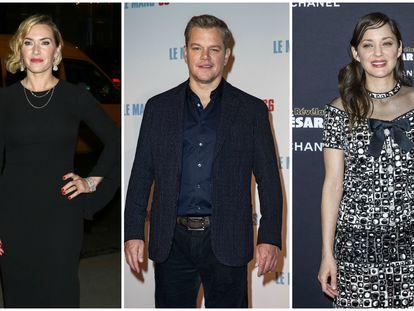Kate Winslet, Matt Damon y Marion Cotillard, tres de los actores progatonistas de 'Contagio'.
