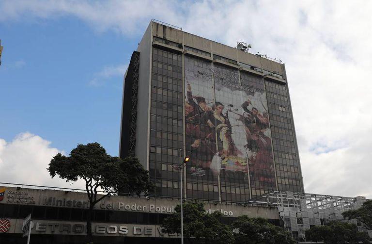 La sede de PDVSA en Caracas, este miércoles.