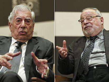 El escritor Mario Vargas Llosa y el filósofo Fernando Savater, en sendas imágenes de archivo.