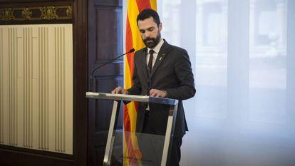 Comparecencia de Roger Torrent, presidente del Parlament de Cataluña.