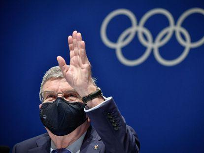 El presidente del COI, Thomas Bach, en una conferencia previa al inicio de los Juegos de Tokio