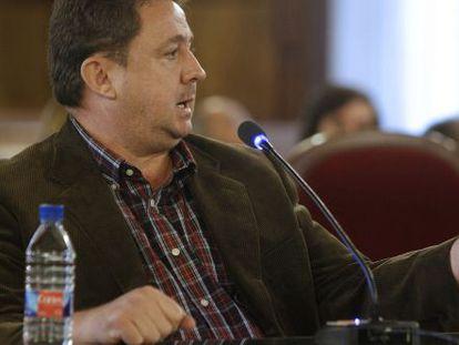 El exconcejal de Hacienda de Majadahonda, José Luis Peñas, durante un juicio del 'caso Gürtel'.