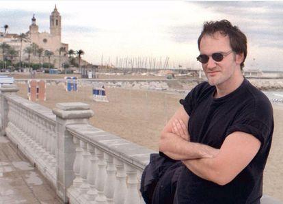 El director de cine Tarantino en 1996, durante su segunda visita al festival de cine de Sitges.