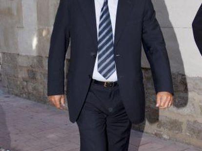 El empresario Enrique Ortiz en una de sus visitas al juzgado.