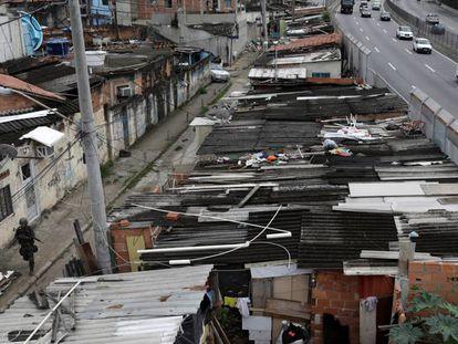Favela Ciudad de Dios en Río de Janeiro (Brasil).