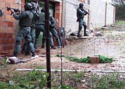 Imagen de la Guardia Civil de la operación policial.