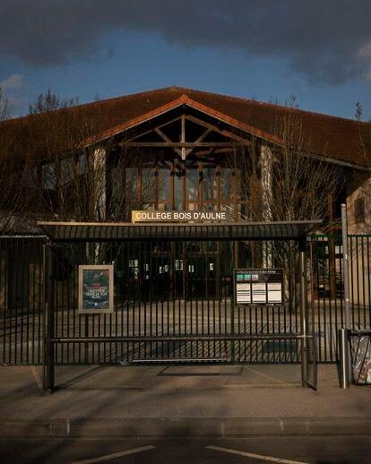El Collège Bois d'Aulne, en Conflans-Saint-Honorine, donde enseñaba el asesinado Samuel Paty