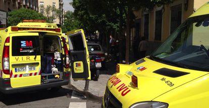 Ambulancias del Summa en el lugar del siniestro.