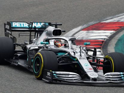 Lewis Hamilton, durante la carrera.
